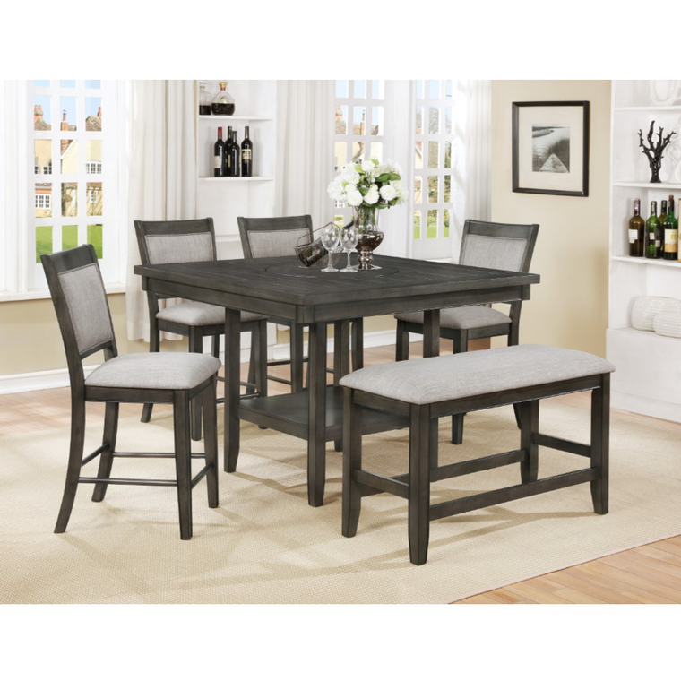6-Piece Fulton Grey Counter Height Dining Set