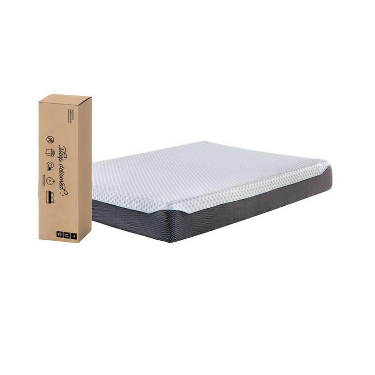 "10"" Tight Top Firm Full Memory Foam Boxed Mattress with Platform Frame"