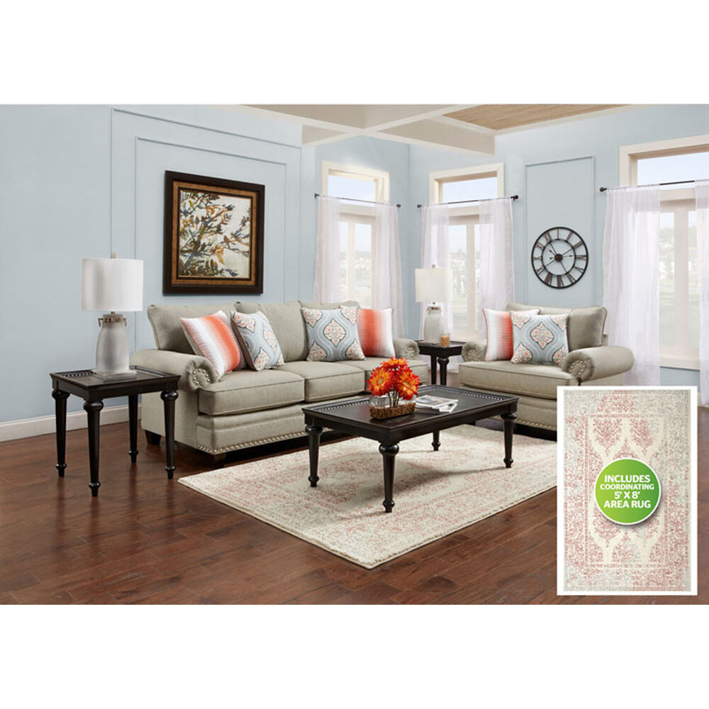 Fusion Furniture Living Room Sets 8-Piece Villa Living Room Collection