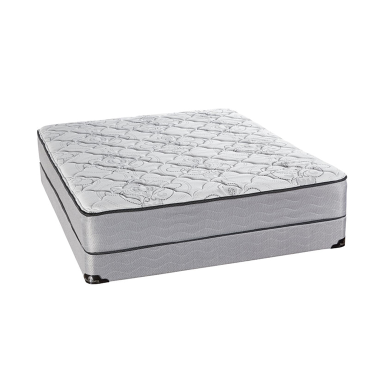 "Luxury Tight Top Firm Queen Mattress with 9"" Foundation and Protectors"