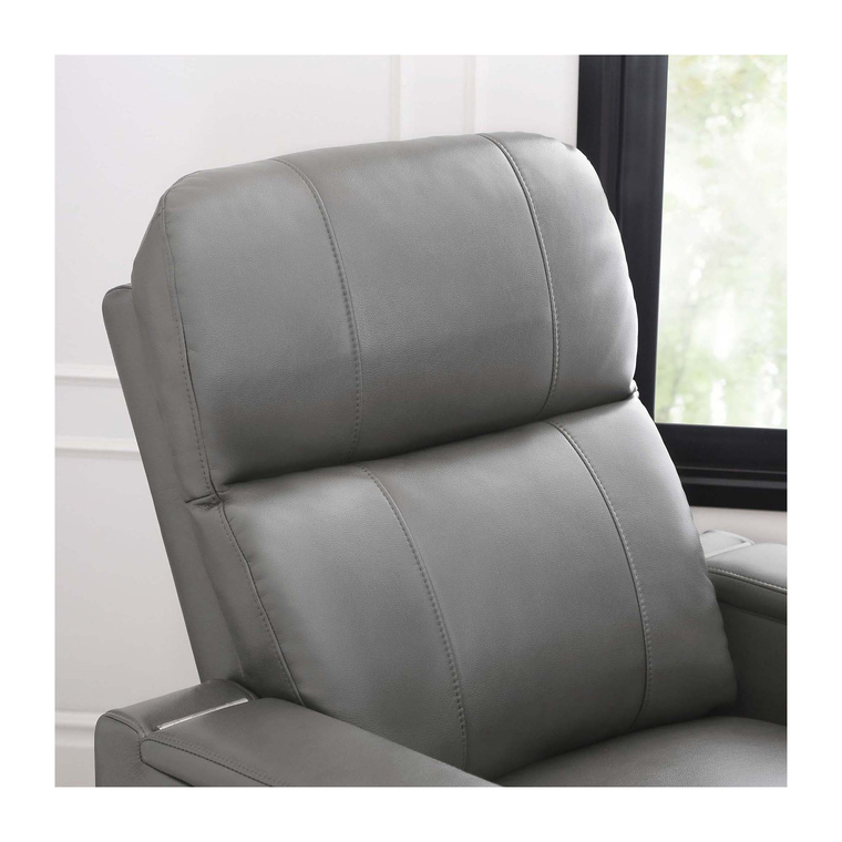 Rider Grey Power Leather Recliner
