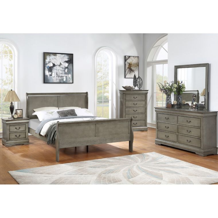 7-Piece Louis Philip Grey King Bedroom