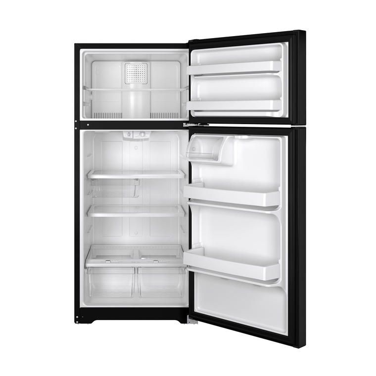 15.5 cu. ft. Top Mount Refrigerator - Black