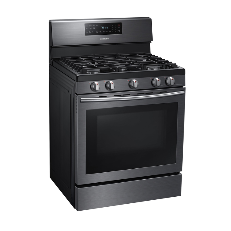 5.8 cu. ft. Self Cleaning Convection Oven Gas Range - Black Stainless