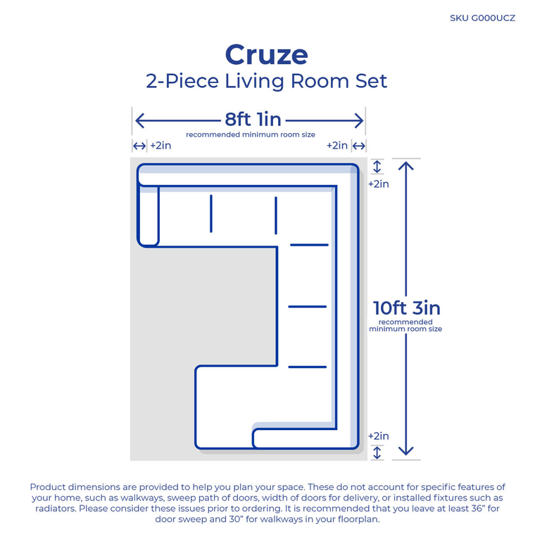 2-Piece Cruze Living Room Collection
