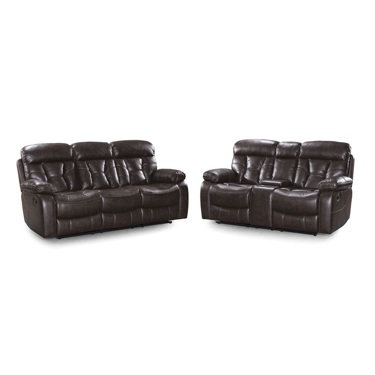 2-Piece Peoria Reclining Sofa and Loveseat