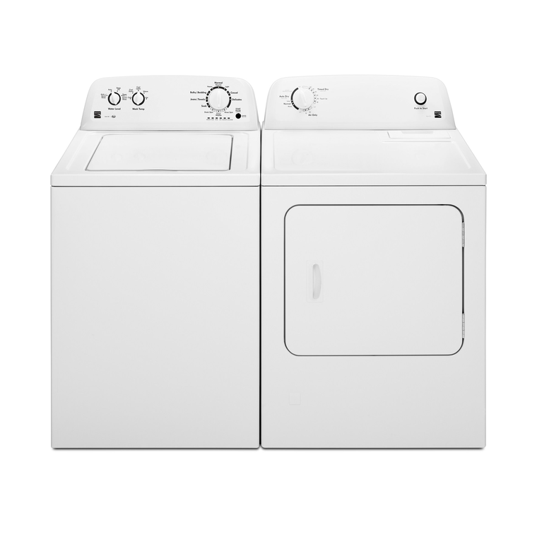 High Efficiency 3.5 cu. ft. Top Load Washer & 6.5 cu. ft. Gas Dryer