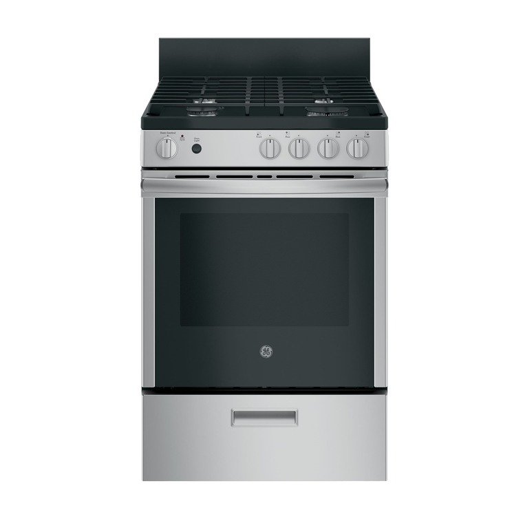 """24"""" 2.9 cu. ft. Standard Clean Gas Range - Stainless"""