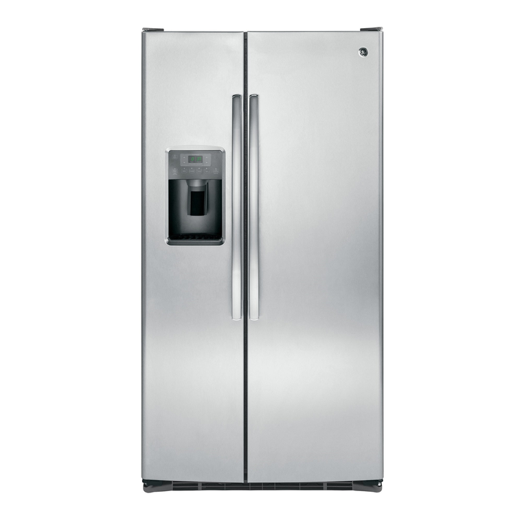 25.3 cu. ft. Side-by-Side Refrigerator with Ice and Water - Stainless Steel