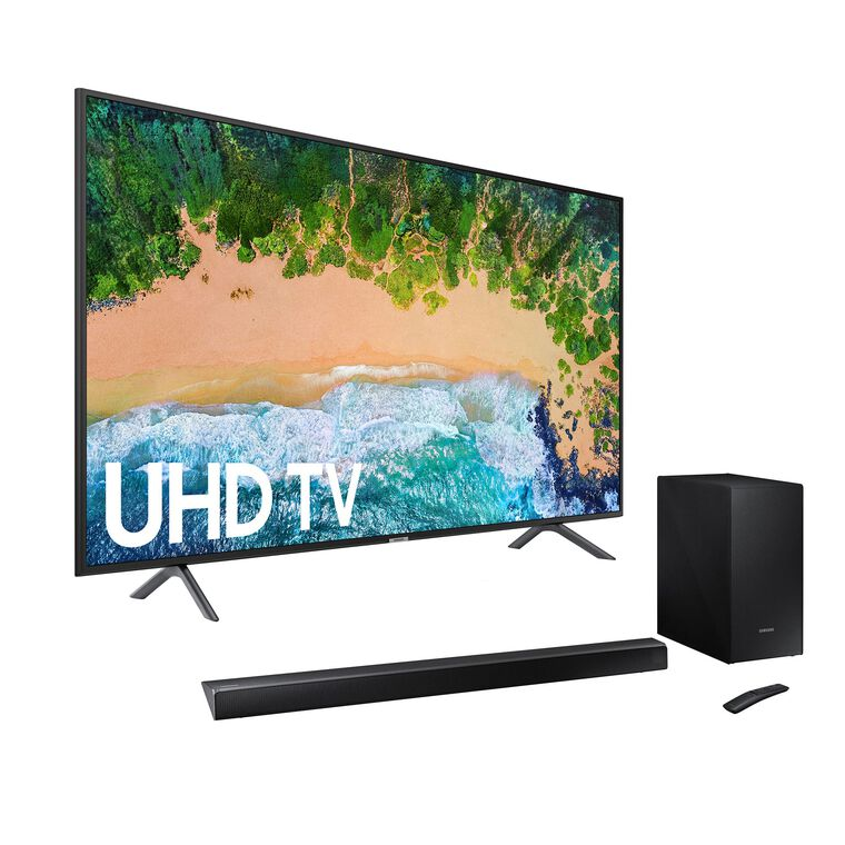 "55"" Class Smart 4K UHD TV & 320W 2.1Ch Sound Bar Bundle"