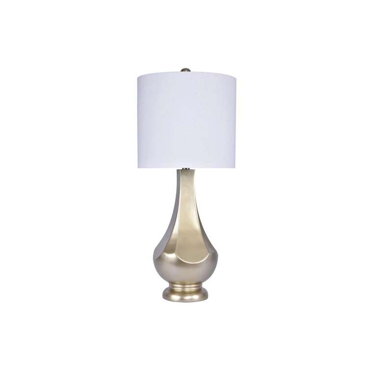 Painted Pewter Table Lamp (Set of 2)