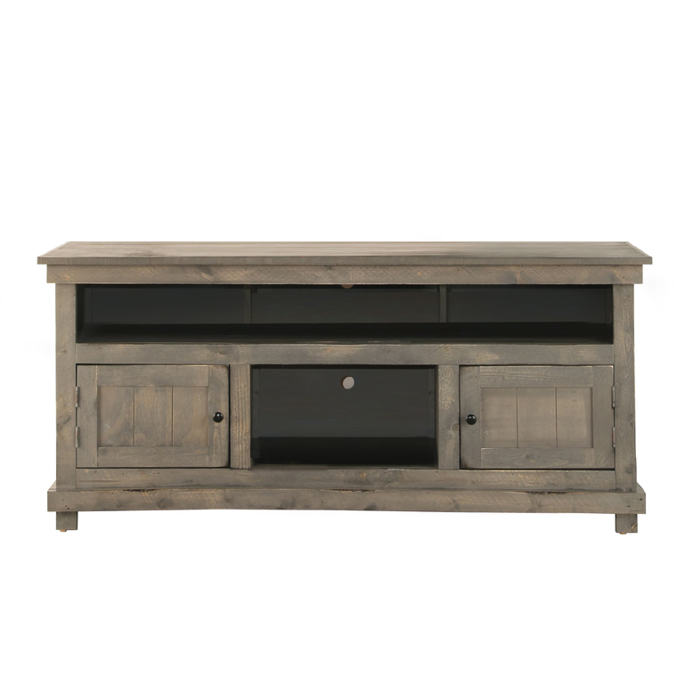 """60"""" Rustic TV Stand - Grey"""
