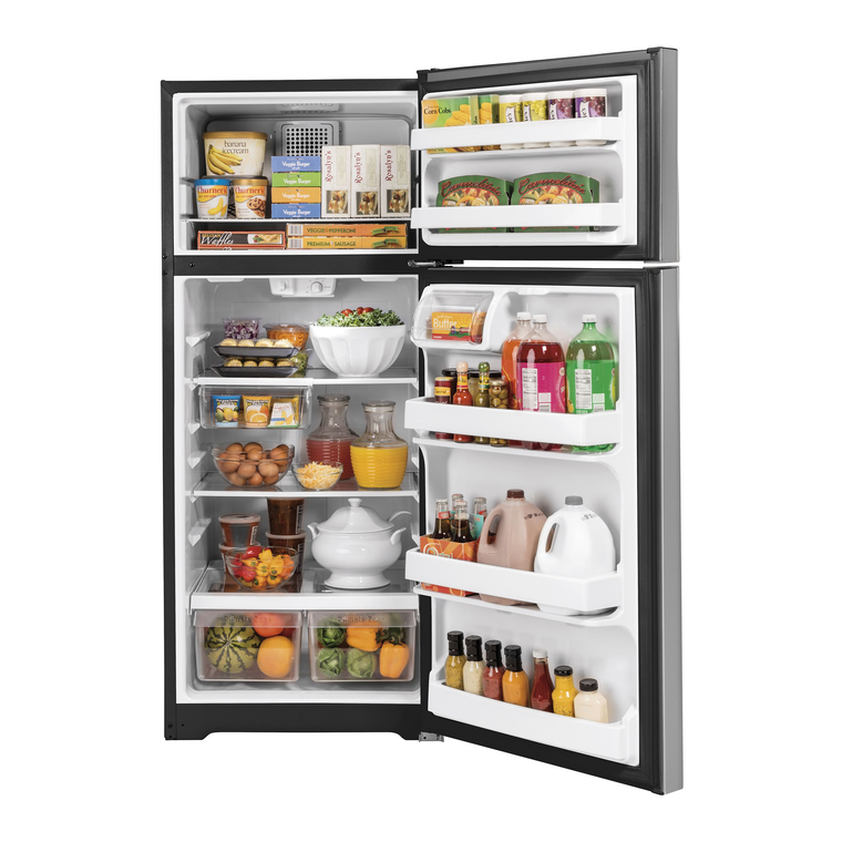 17.5 cu. ft. Top Mount Refrigerator - Stainless