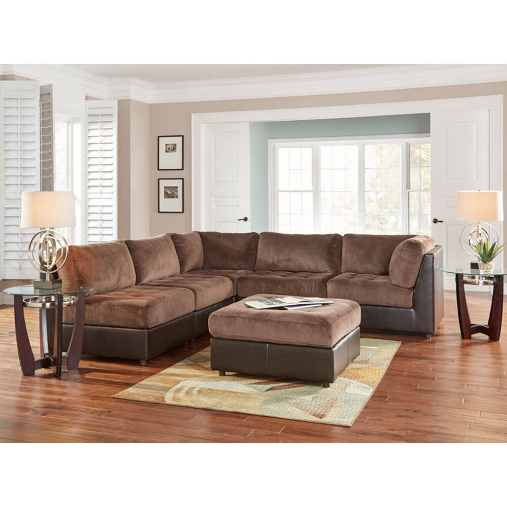 Woodhaven Industries Sectionals 6 Piece Hennessy Living