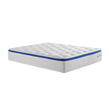 """12"""" Tight Top Firm Queen Hybrid Boxed Mattress w/ Foundation & Protectors"""