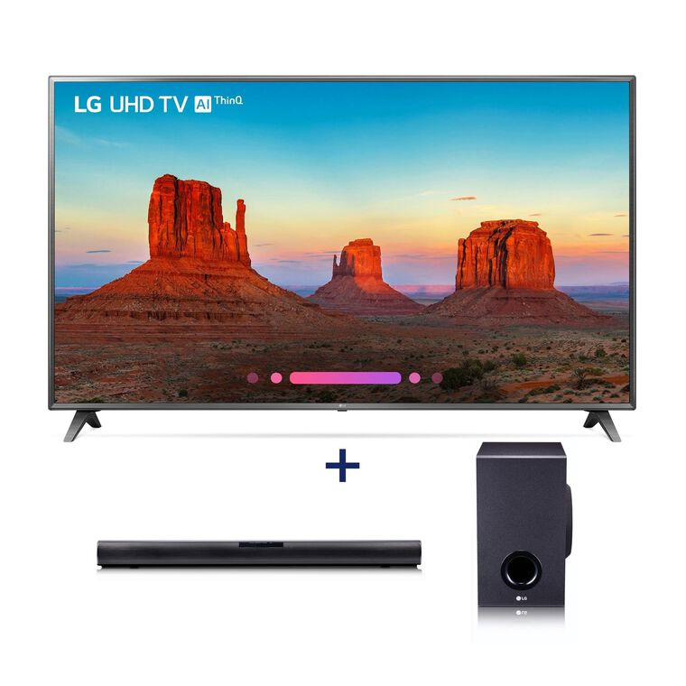 "43"" Class (42.5"" Diag.) 4K UHD LED Smart TV & 160W 2.1Ch Sound Bar Bundle"