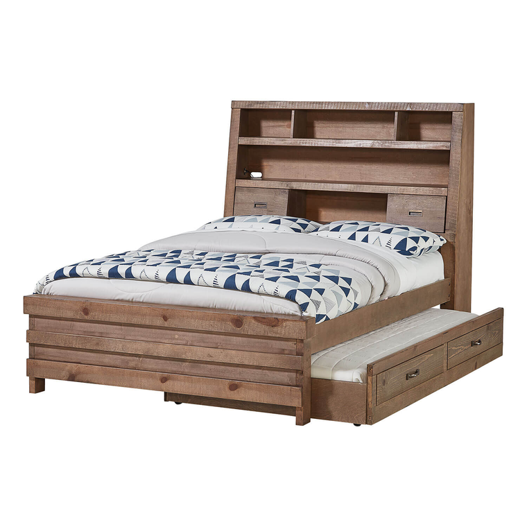 4-Piece Montana Full Captain's Bed with Trundle