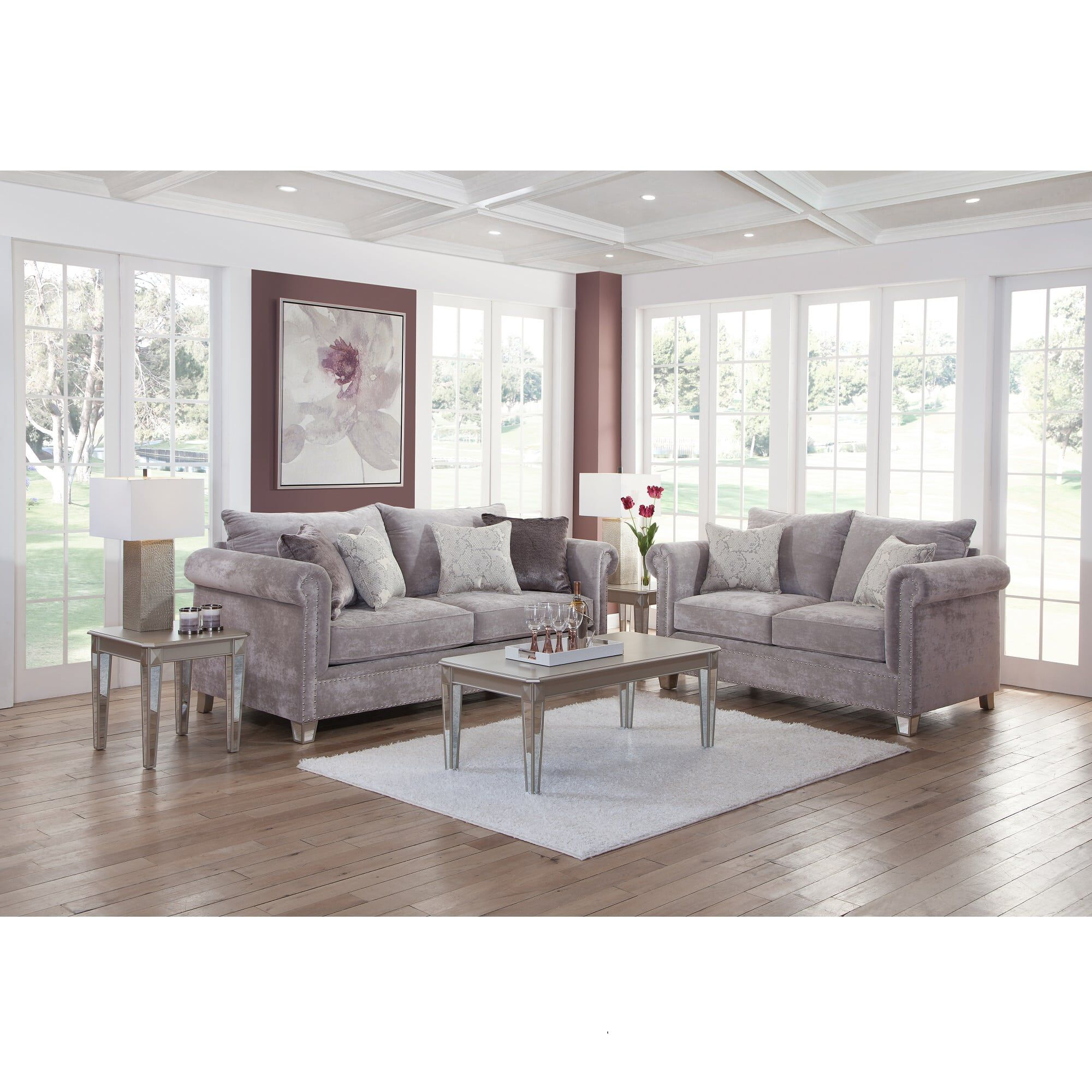 Delightful 7 Piece Hollywood Living Room Collection