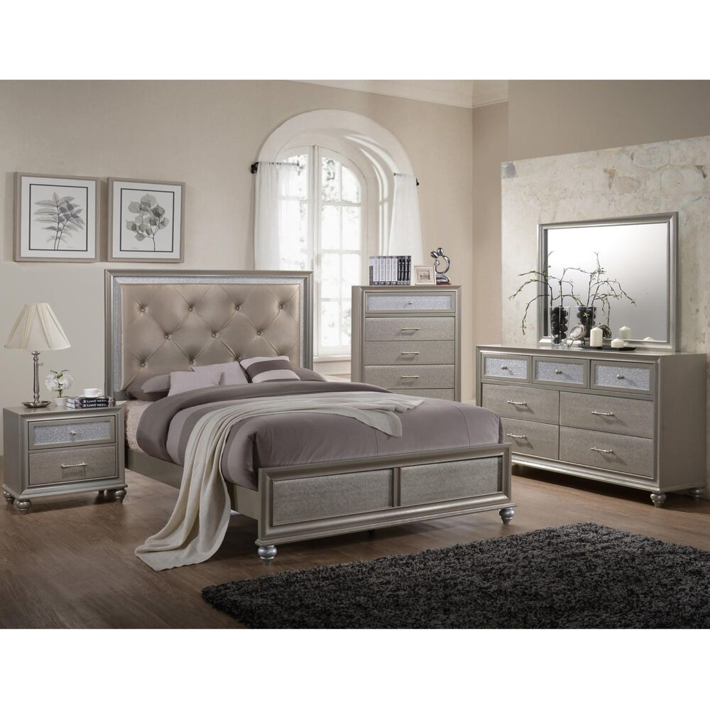 Rent to Own Crown Mark Inc 7-Piece Lila Bedroom w/King Bed ...
