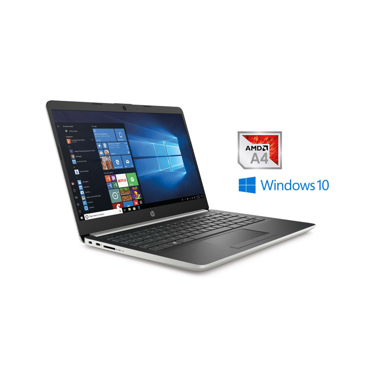 """14"""" 128GB SSD Laptop withA4 ProcessorMicrosoft Office 365 Personal and Total Defense Internet Security"""
