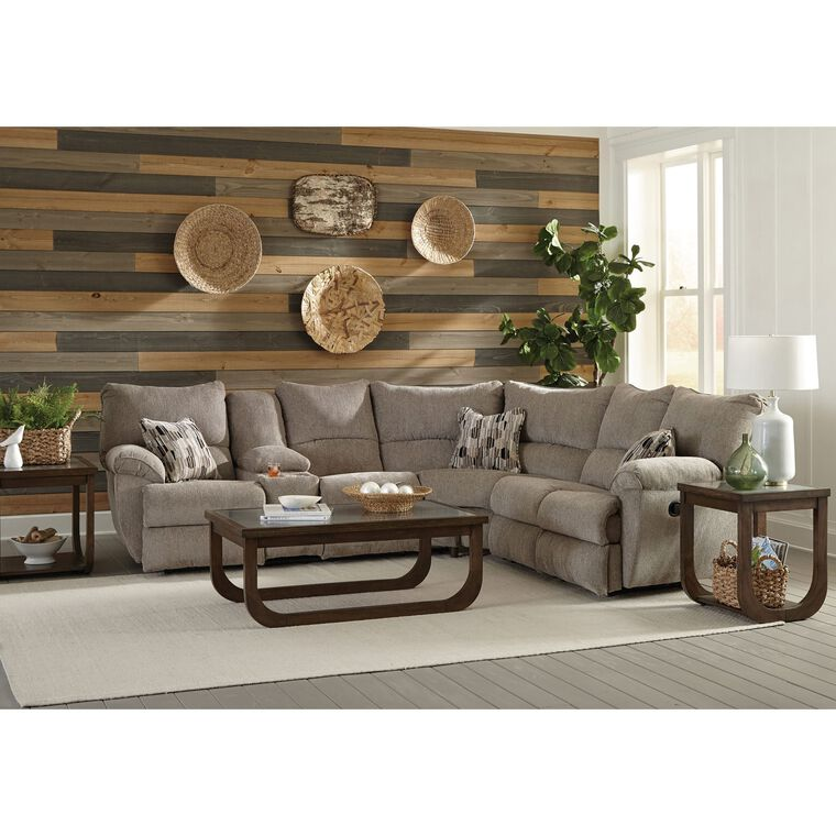 Elliot Pewter Lay Flat Sectional