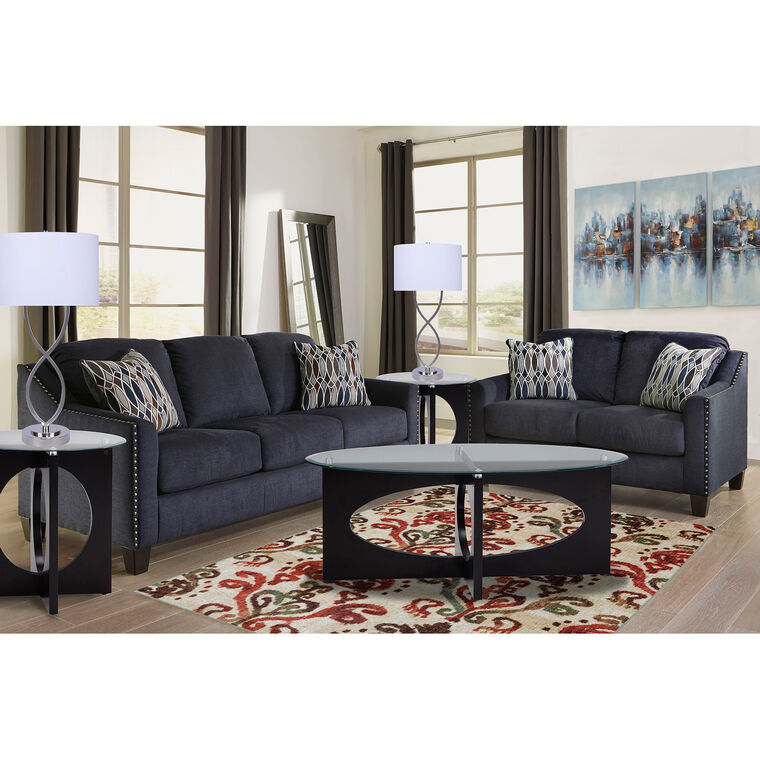 grey sofa living room charcoal 2piece creeal heights living room collection rent to own loveseats sofas and couches aarons