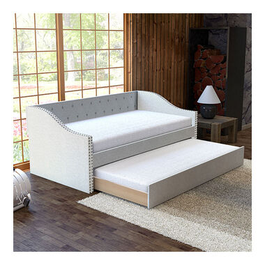 Tulip Twin Daybed w/Trundle - White