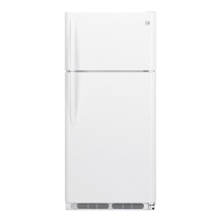 18 cu. ft. Top Mount Refrigerator - White | Tuggl