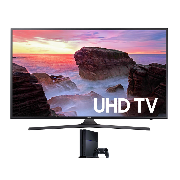 "55"" Class (54.6"" Diag) Smart 4K UHD TV & Playstation 4 Bundle 