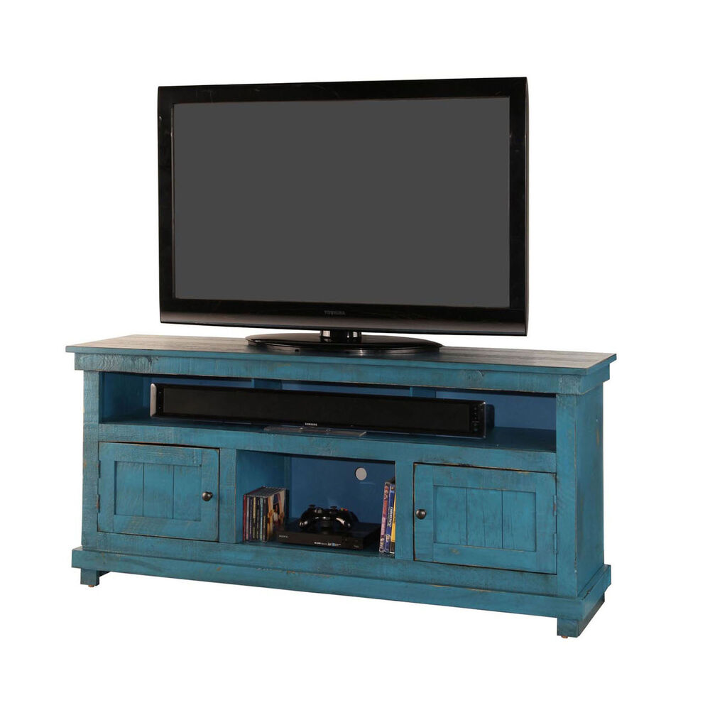 60 Rustic Tv Stand Blue