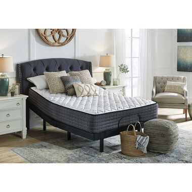 """11"""" Tight Top Firm Queen Innerspring Boxed Mattress with Power Head Adjustable Base"""