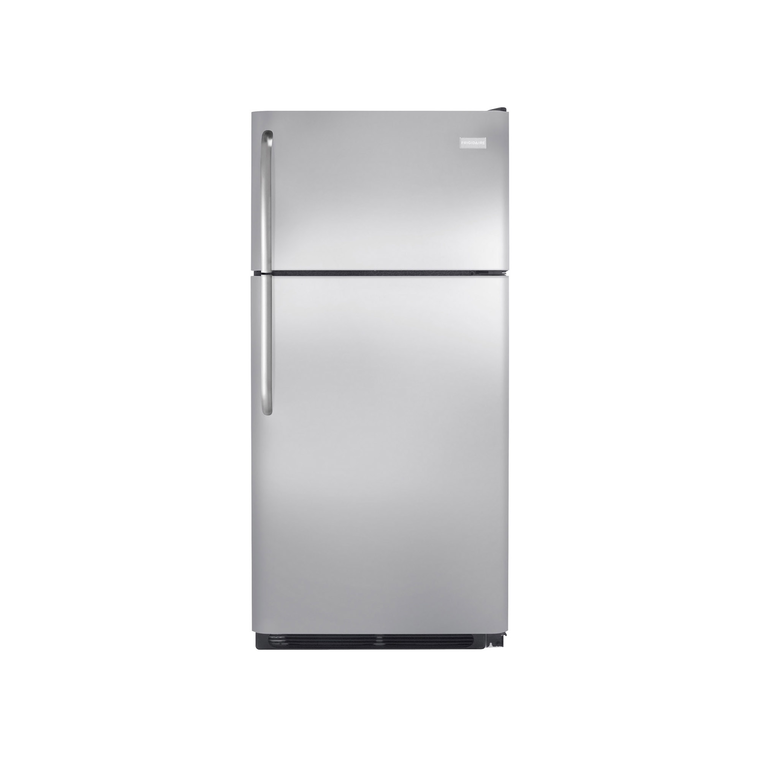 18 cu. ft. Top Mount Stainless Steel Refrigerator | Tuggl