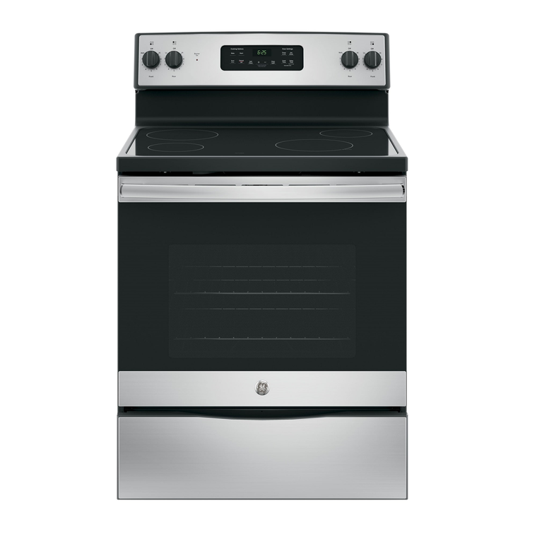 5.3 cu. ft. Self Cleaning Electric Range with Ceramic Cooktop - Stainless