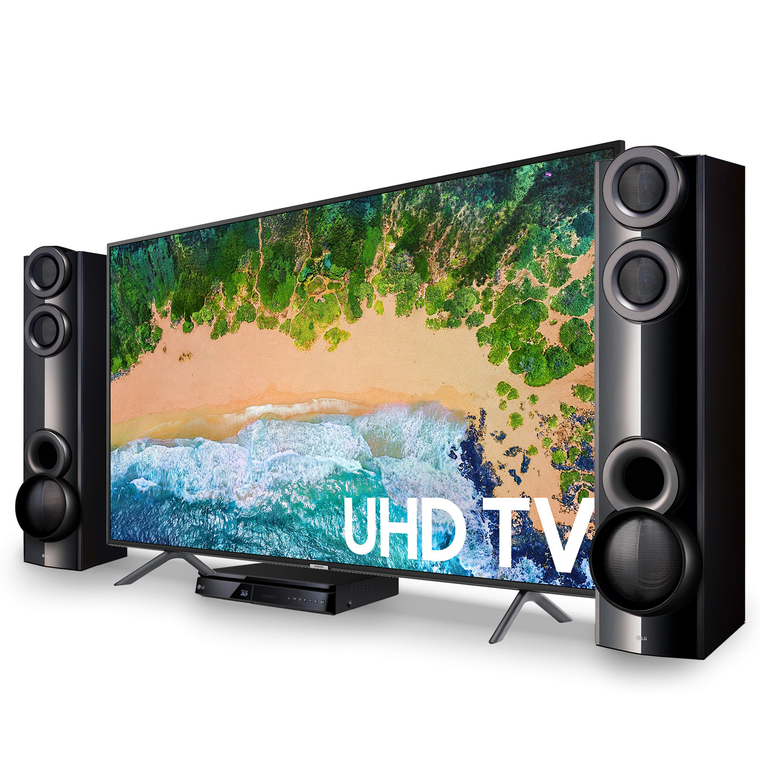 "55"" Class (54.6"" diagonal) Smart 4K UHD TV & LG 1000W Home Theater System Bundle"