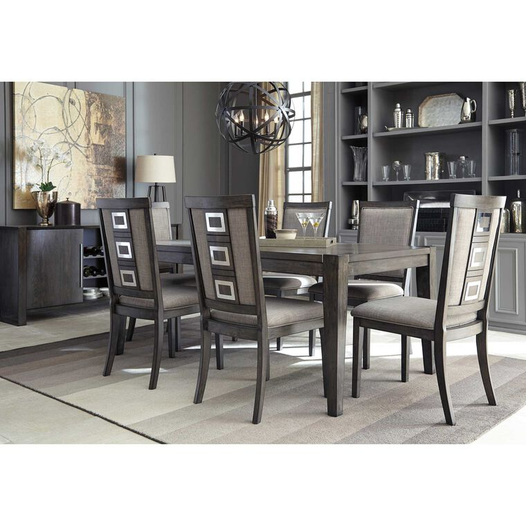 8-Piece Chadoni Dining Room Collection with Server/Buffet
