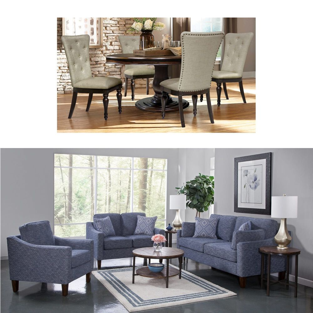 Riversedge 5-Piece Belmont Dining with Woodhaven 3-Piece Dana Living ...