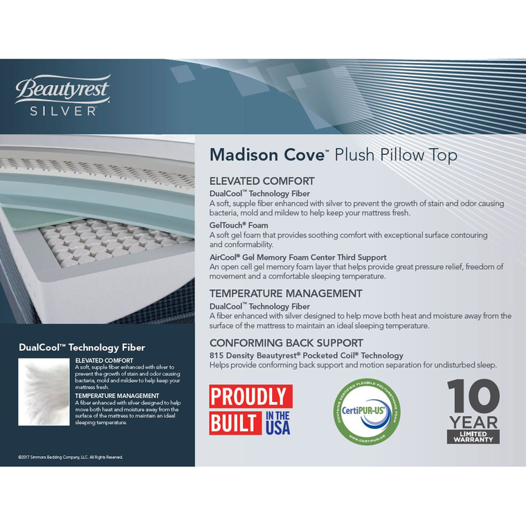 Madison Pillowtop Ultra-Plush King Mattress with Woodhaven Foundation and Protectors