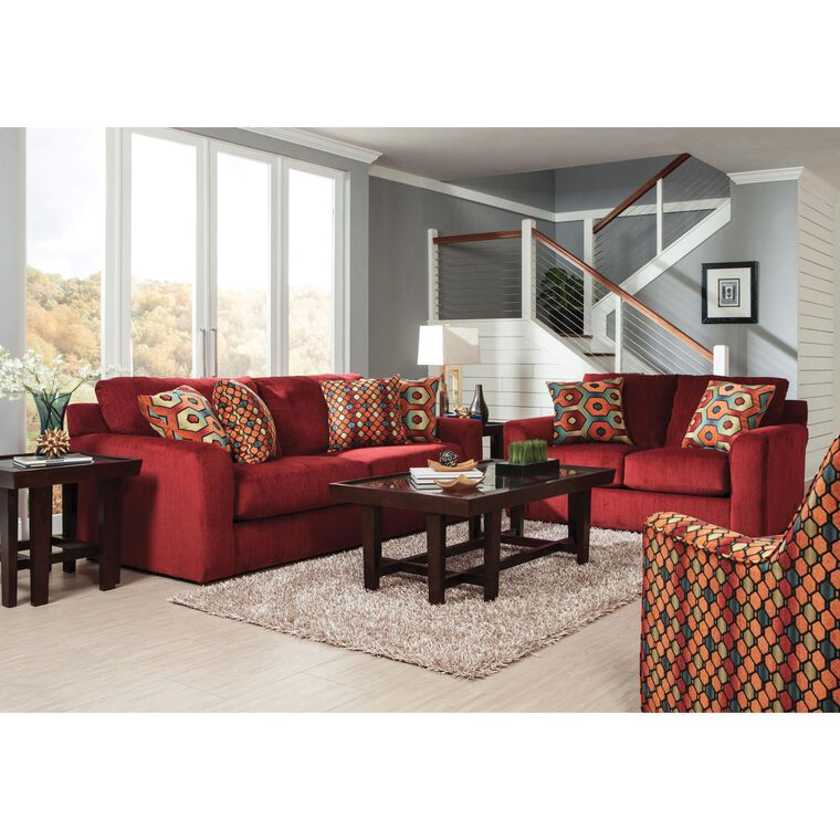2-Piece Sutton Algerian Sofa and Loveseat