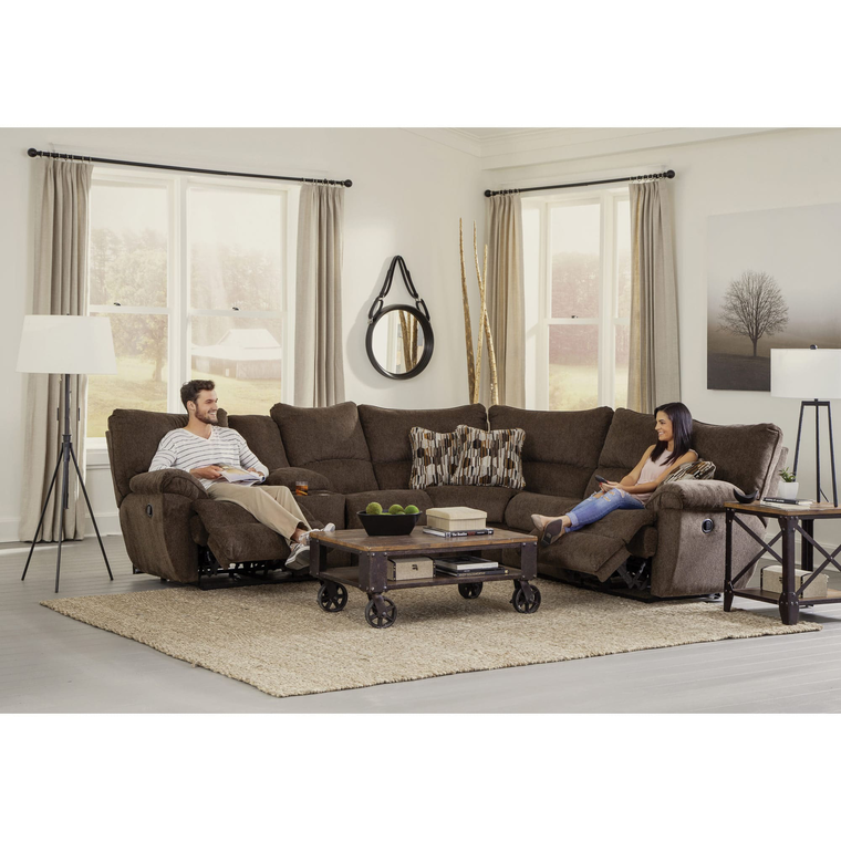 Elliot Chocolate Lay Flat Sectional