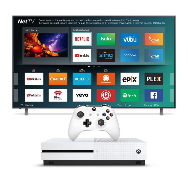 "55"" Class (54.6"" Diag.) Smart 4K UHD TV & 1TB Xbox One S Bundle"