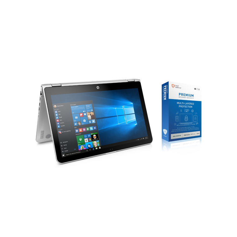 """15.6"""" x360 Convertible Laptop with Total Defense Internet Security"""