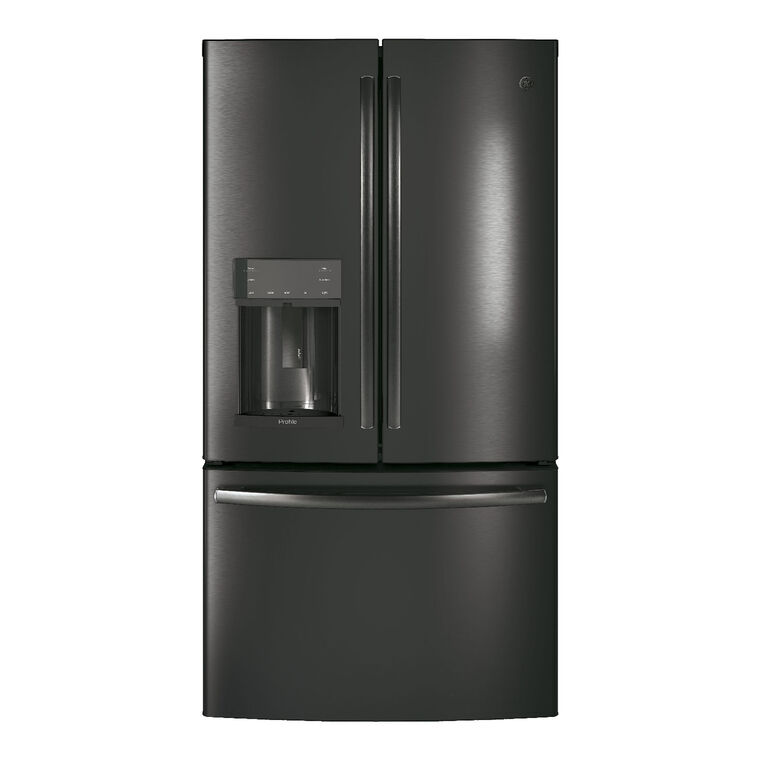 22.2 cu. ft. Energy Star French Door Refrigerator - Stainless Steel/Black