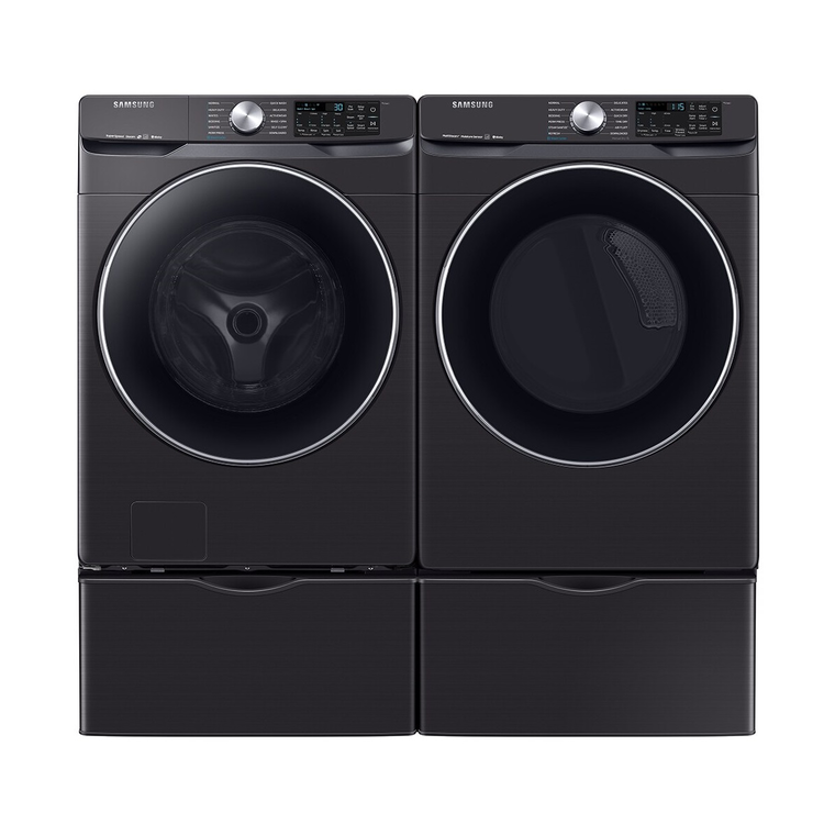 4.5 cu. ft. Energy Star Front Load Steam Washer &  7.5 cu. ft. Elec. Steam Dryer With Pedestals