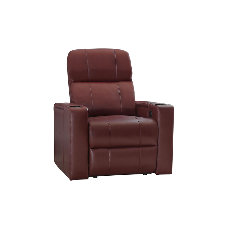 Rider Red Power Leather Recliner