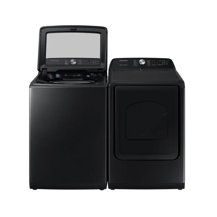 5.0 cu. ft. High-Efficiency Top Load Washer & 7.4 cu. ft. Electric Steam Dryer