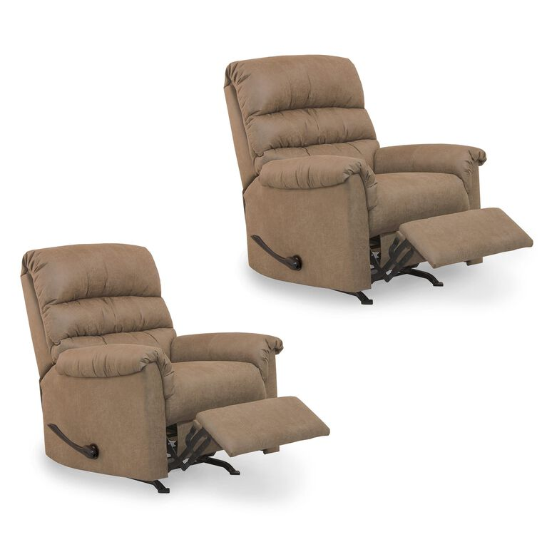 2 Small Rocker Recliners Bundle