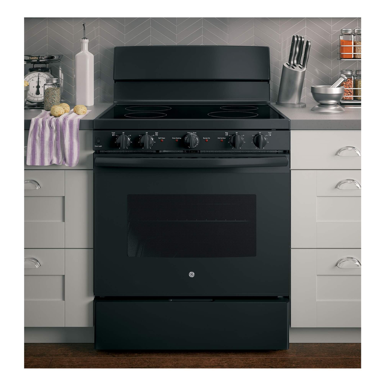 5.0 cu. ft. Self Cleaning Front Control Electric Range with Ceramic Cooktop - Black