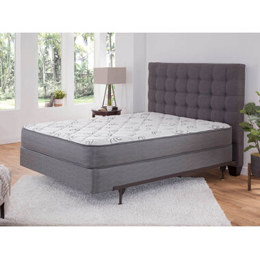 """Luxury Tight Top Firm Queen Mattress with 9"""" Foundation and Protectors"""