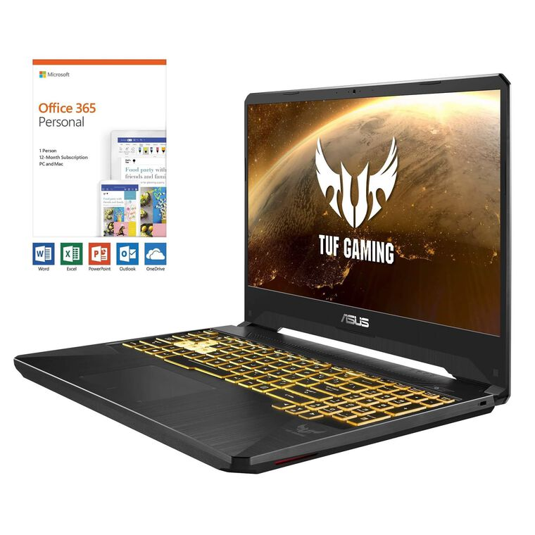 """17.3"""" TUF Gaming Laptop with Ryzen 7 CPU Microsoft Office 365 Personal & Total Defense Internet Security"""