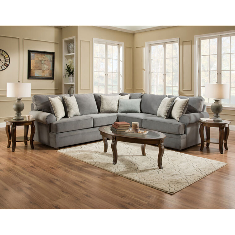 United Sectionals 2-Piece Naeva Living Room Collection Sectional
